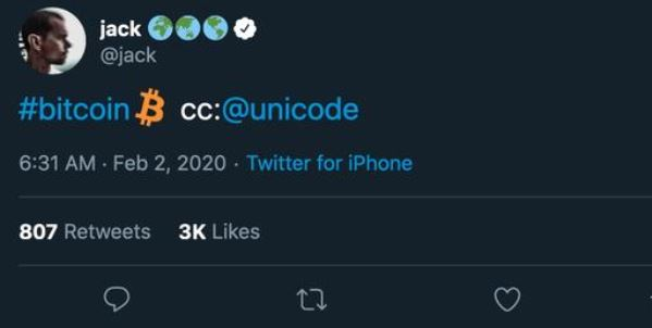 Twitter推出比特币emoji表情